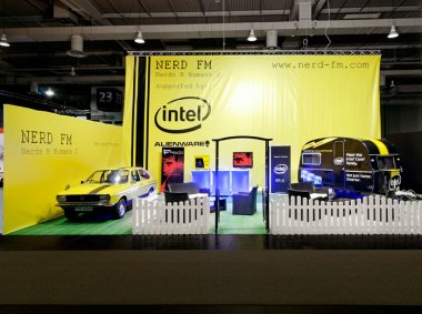 Messestand Nerd FM, Hannover, CeBIT
